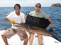 "Sailfish caught on board the Warren Sellers's ""Bad Dog"""