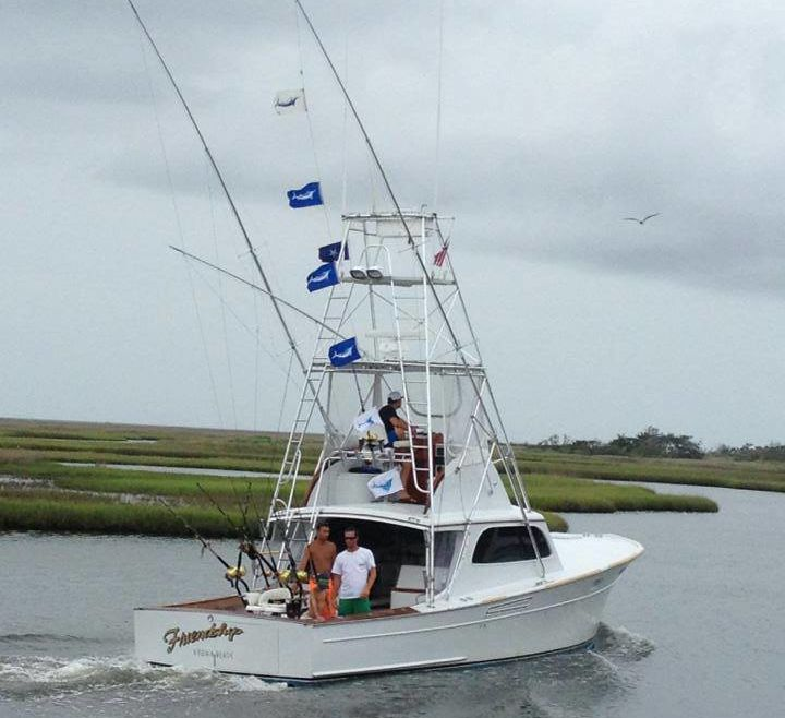 Flags Flying off Hatteras