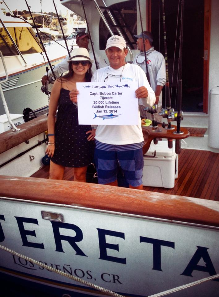 Capt. Bubba Carter records his 20,000th Billfish