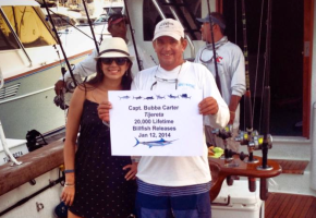 Bubba Carter hits 20,000 Billfish